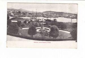 HOBART DOCKS from BATTERY POINT SHIPPING c.1900s postcard AUSTRALIA