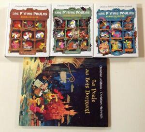Les P'TITES POULES albums collector 1-2-3 + bois dormant Jolibois Heinrich PKJ
