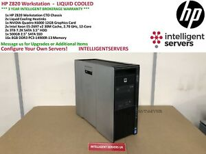 HP Z820 Workstation - Liquid Cooled - 24 Cores - 128GB - 500GB SSD + 6TB - K6000