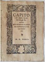 DA SAN CHIRICO CAPITOLO DEL GIOCO DELLA PRIMIERA CARTE DA GIOCO 1534 RISTAMPA