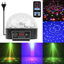 Disco 9 LED Lichteffekt Discokugel Magic RGB Projektor Party Clubs KTV Bar Neu