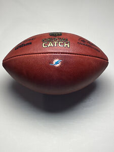 """2017 Miami Dolphins """"Crucial Catch"""" Game Ball - Wilson """"The Duke"""" NFL Football"""