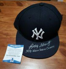 NY Yankees Bobby Schantz Autographed Authentic New Era Ball Cap Beckett COA