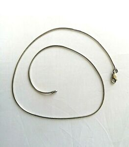 Sterling silver snake chain necklace Italy 925 16.5 inches 1.2mm 4.8g