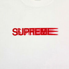 f3bcce7590f5 NEW 18SS''SUPREME Motion tee Black Red Gray White t shirt Box Logo Tee