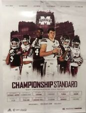MISSISSIPPI STATE 2018 Football Schedule Poster Joe Moorhead Fitzgerald Simmons