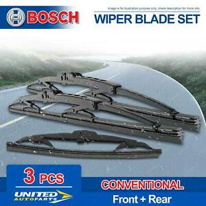 Bosch Wiper Blade Set for Honda Accord Aerodeck CB CC CD CE 1993 - 1997