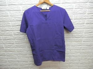 Jasco Uniform Purple Short Sleeve Scrub Top Size Medium T25