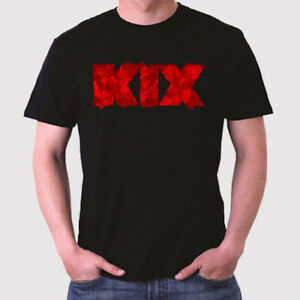 New KIX Logo Men's Black T-Shirt Size S to 3XL