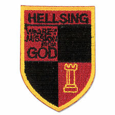 Hellsing Ultimate Organization Eblem Shield Iron / Sew On Fabric Patch Licensed