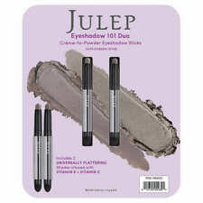Julep Crème to Powder Eyeshadow 101 Stick Duo Taupe Shimmer & Stone  -Brand New