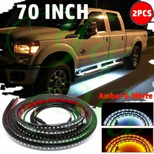 "70"" Running Board LED Light Side Step Strip Turn Signal DRL Bar Car Truck Pickup"