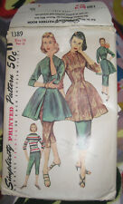 Vintage 1955 Simplicity Fitted sexy TUNIC sewing Pattern + skirt & pants SZ 14