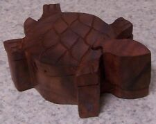 Wood Jewelry Puzzle Box Turtle NEW