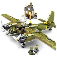Custom Military German WW2 Air Bomber JU88 Junkers War Plane Fighter Legos Comp