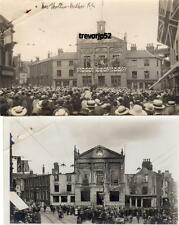 2 Luton Town Hall Peace Day 1919 Riots Before & After Evidence RP pcs Ref A486