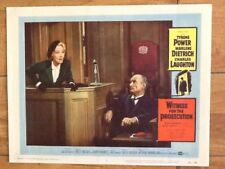 Marlene Dietrich Witness For The Prosecution Tyrone Power Wilder 1958 Classic !