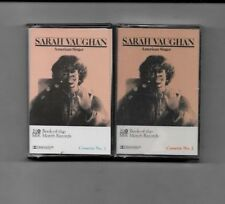 SARAH VAUGHAN - UNOPENED CASSETTE TAPES - LOT OF TWO TAPES