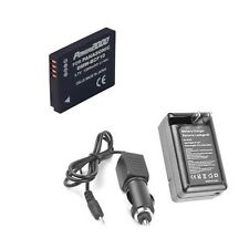 Battery + Charger for Panasonic DMC-FH20V DMC-FH22