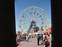 1988 Coney Island Brooklyn Photo Slide NYC Wonder-Wheel