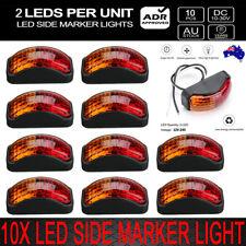 10 X 2 LED CLEARANCE LIGHTS SIDE MARKER LAMP RED AMBER TRAILER TRUCK 10-30 Volt