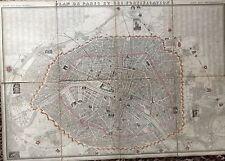 PLAN DEPLIANT DE LA VILLE DE PARIS ET SES FORTIFICATIONS POUR L'ANNÉE 1848