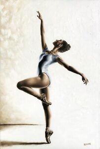 Harmony and Light - Signed Fine Art Giclée Print. Ballerina dancer oil painting