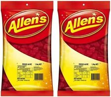 Bulk Lot 2 x Allens Frogs Alive Red 1,3kg Bgs Candy Buffet Frog Treats Favors