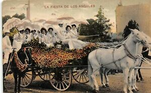H65/ Los Angeles California Postcard c1910 La Fiesta De Parade Float  47