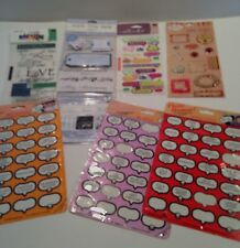 7 Sheets Scrapbooking Stickers and Embellishment Bubble Stickers lot