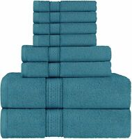 8 Piece Towel Set includes Bath Towel Hand Towel Washcloth 600 GSM Utopia Towels