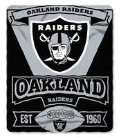 Oakland Raiders NFL Northwest Fleece Throw