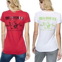 True Religion Women's Buddha Logo Deep V-Neck Tee T-Shirt