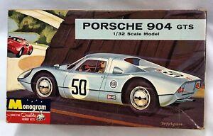 Monogram Porsche 904 GTS Plastic Slot Car Model Kit 1/32 Unbuilt 1964 PC99-100
