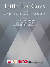 Little Toy Guns Sheet Music Piano Vocal Carrie Underwood NEW 000149034