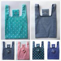 Folding Reusable Grocery Bag Foldable Tote Handbag Eco-friendly Shopping Bag New