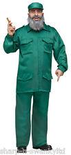 Para Hombre Fidel Castro dictador cubano ejército militar Fancy Dress Costume Outfit