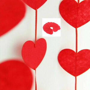 Love Strings Home Decoration Engagement Valentines Day Party Red Heart Tassel