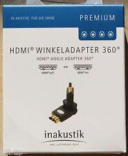 inakustik Premium HDMI Winkeladapter 360° Adapter 2x180° Premium m > w / 0045217