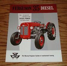1958 1959 Ferguson 35 Diesel Tractor Sales Brochure 58 59