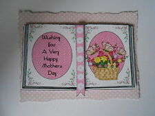 PK 2 MOTHERS DAY BASKET FLOWERS BOOK EMBELLISHMENT TOPPERS FOR CARDS/CRAFT