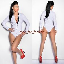 Trendy Long Sleeve White Body Top Blouse. UK 8.10.12.14. EU 36.38.40.42.