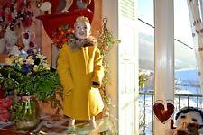 manteaux catimini double neuf 6 ans 28 % laine moutarde jaune chaud et chic