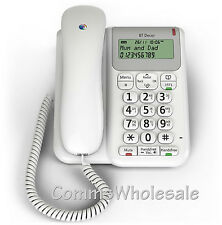 BT Decor 2200 White Corded Telephone with Caller Display Handsfree & 1571 Button