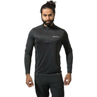 Montane Mens Dart Zip Neck Top - Black Sports Outdoors Half Breathable