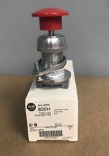 Allen-Bradley 800H-DP6 Mushroom Head Push Button-Red