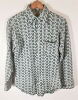 VTG 70s Mens Dutchmaid double knit Paisley shirt MOD Disco Hippie S