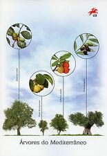 Portugal 2017 CTO Trees of Mediterranean 4v Set Special Folder Nature Stamps