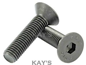 WHITWORTH BSW COUNTERSUNK SCREWS ALLEN SOCKET BOLTS HIGH TENSILE 1/4 5/16 3/8""
