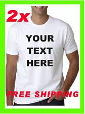 2 !! NEW Custom Personalized T Shirts -print your TEXT -bussines- Camisetas